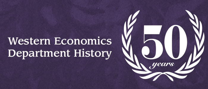 Western Economics 50th Anniversary Department History