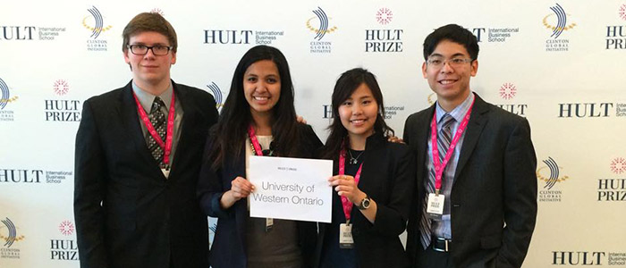 Eric Huang (HonEcon) and his team at the Hult Prize Comptition