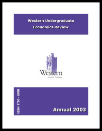 Western Undergraduate Economics Review 2003
